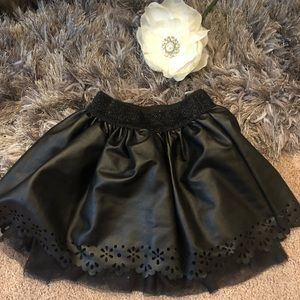 Children's place black leather skirt in size 4